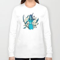 archer Long Sleeve T-shirts featuring Archer Elf by Thomas Orrow