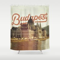 budapest Shower Curtains featuring Budapest by Amigo Vic