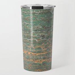 fluid coppered teal Travel Mug
