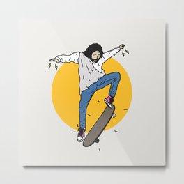 JC Skate Metal Print
