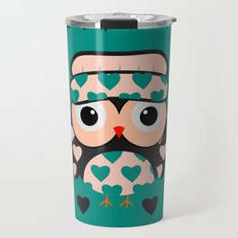 Owl and heart pattern Travel Mug