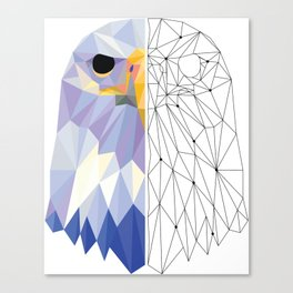 Geometric Eagle Canvas Print