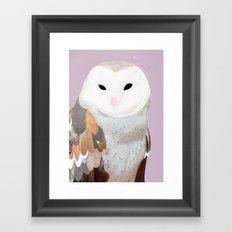 WHITE OWL 2 Framed Art Print