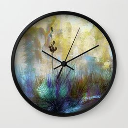 Painted Desertscape Wall Clock