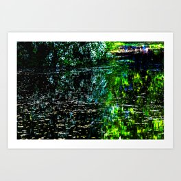 Old Pond in Spring Art Print