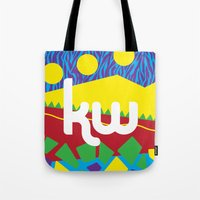 memphis Tote Bags featuring Memphis by KAYWAAL