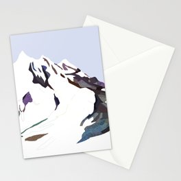 Mountains In The Cold Design Stationery Cards