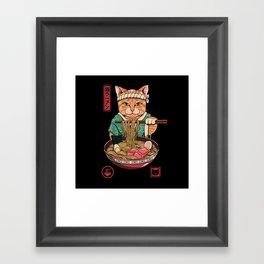 Neko Ramen Framed Art Print
