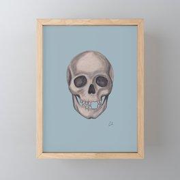 Mr. Smiles - Skull Portraiture Framed Mini Art Print