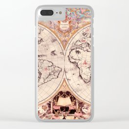 Wizarding Around the World Map Clear iPhone Case