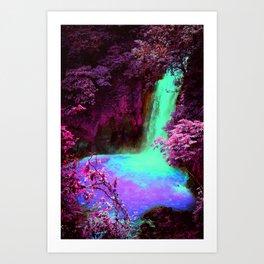 Dan's Waterfall Art Print