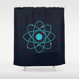 Atom, Molecules, DNA, Science decor, science class Shower Curtain