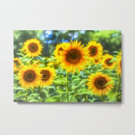 Sunflowers Memories Metal Print