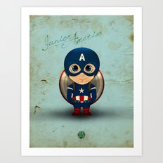 Comic Kids, Series 1 - Junior America Art Print