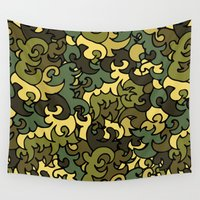 military Wall Tapestries featuring Military pattern. by Julia Badeeva