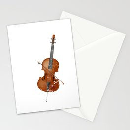 Retro Cello Stationery Cards