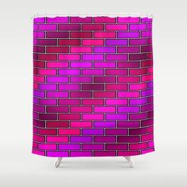 BRICK WALL #2 (Purples, Fuchsias, Violets & Magentas) Shower Curtain