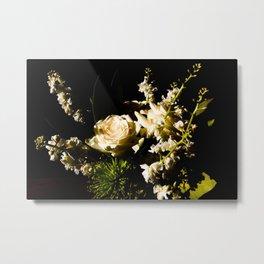 White Bouquet Metal Print