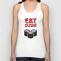 sushi Tank Tops featuring Sushi by flydesign