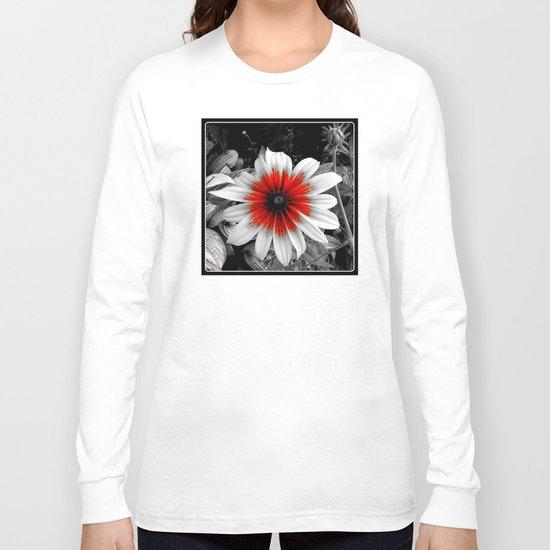 Flower | Flowers | Red Stroke Gaillardia | Red and White Flower | Nadia Bonello Long Sleeve T-shirt