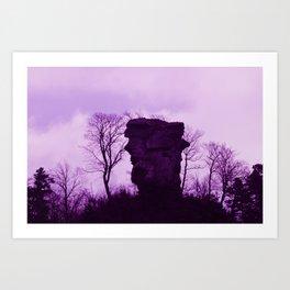 Purple Anebos  - JUSTART © Art Print