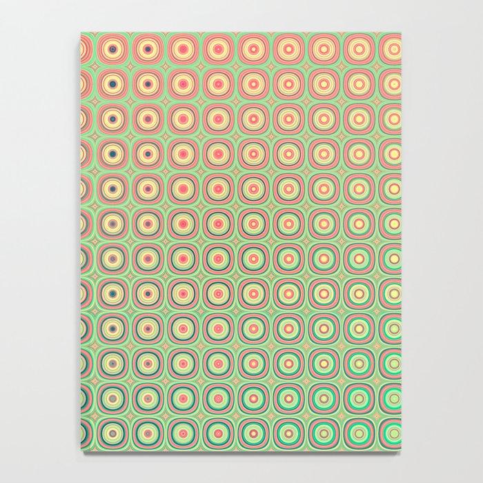 Shiny buttons retro pattern Notebook