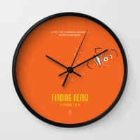finding nemo Wall Clocks featuring Finding Nemo by Smile In The Mind