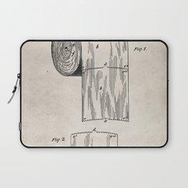 Toilet Paper Patent - Bathroom Art - Antique Laptop Sleeve