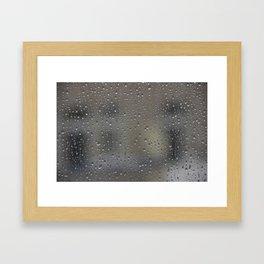 autumn window Framed Art Print