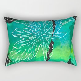 leaf and leafs green Rectangular Pillow