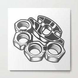 "Fashion Modern Design Print ""Brass Knuckles""! Rap, Hip Hop, Rock style and more Metal Print"