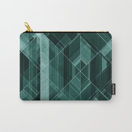 Abstract green pattern Carry-All Pouch