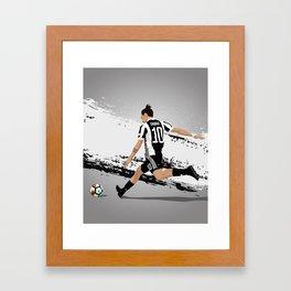 Paolo Dybala Juventus Framed Art Print