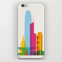 Shapes of Hong Kong. Accurate to scale iPhone Skin