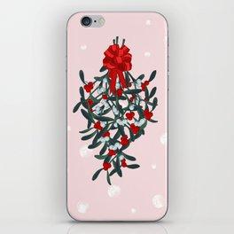 Elegant Mistletoe Holiday Design iPhone Skin