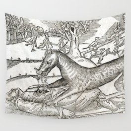 Beast of Cinglais 1632 Wall Tapestry