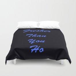 Fresher Than You Ho Periwinkle Blue & Black Duvet Cover
