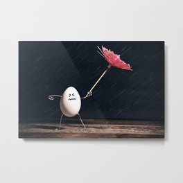 Not Egg-actly Nice Weather Metal Print