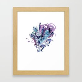 Liquid Crystal Framed Art Print
