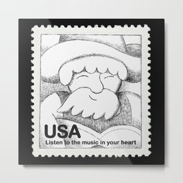 Listen to the Music in your Heart - Stamp Metal Print