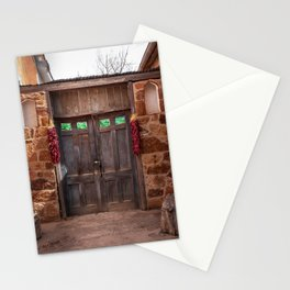 Doorway and Ristras in Lincoln, NM. Stationery Cards