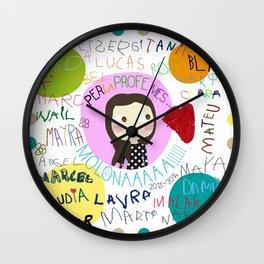 Per la Bea dels confeti  Wall Clock