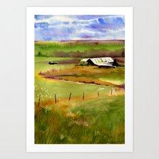 Plain Old Barn Art Print