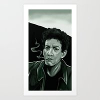 lou reed Art Prints featuring Lou Reed by Simone Bellenoit : Art & Illustration