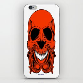Red Skull iPhone Skin