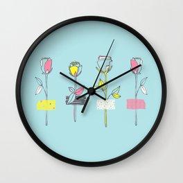Rosewall (on blue) Wall Clock