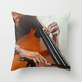 The Bassist Throw Pillow