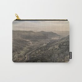 Fort Davis Scenic Overlook near Marfa, TX  Carry-All Pouch