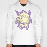 gengar Hoodies featuring Pocket Man Anatomy #94 Gengar by jazzmoth
