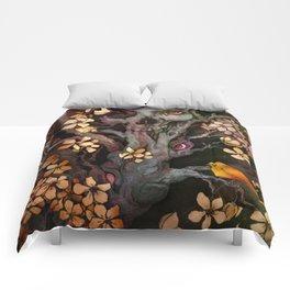 Orange Bird Comforters